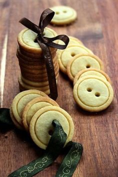 Button cookies, would be an adorable small gift!