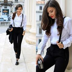 Get this look: http://lb.nu/look/6722670  More looks by Larisa Costea: http://lb.nu/themysteriousgirl  Items in this look:  Jessica Buurman Shoes, Sheinside Pants, Jessica Buurman Ring   #chic #minimal #street