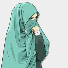 I love hijab I love islam 💖💖💖 Cartoon Pics, Girl Cartoon, Cartoon Art, Hijab Niqab, Muslim Hijab, Islam Muslim, Geisha, Muslim Pictures, Cover Wattpad