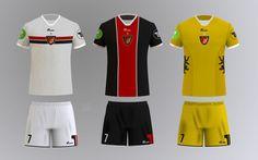 Football kit concept for Budapest Honvéd FC 2013 by András Sütő, via Behance