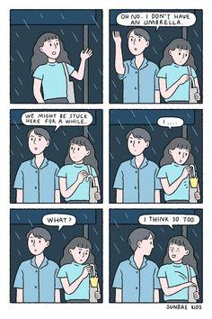 Cute Couple Comics, Couples Comics, Cute Couple Cartoon, Comics Love, Cute Couple Art, Cute Comics, Sundae Kids, Romantic Comics, Relationship Comics