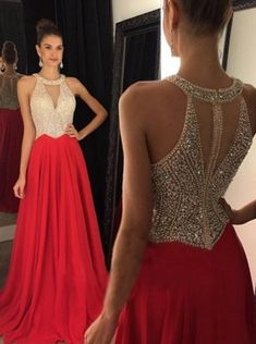Hot Sales Champagne Tulle Red Skirt Prom Dresses,High