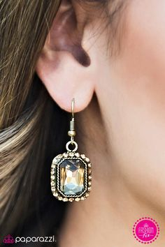 Its A Bling Thing Item   A rectangular brass frame decorated in glittery  aurum rhinestones dances around an elegant emerald cut gem in a matching  tone. ae4cdfd19dbc