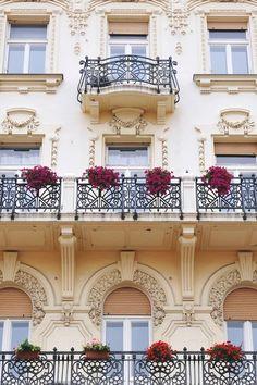 bluepueblo:  Balconies, Paris, France photo via andrea