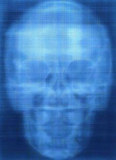 Phthalo Blue X-Ray, Self-Portrait, oil on canvas, Alison Van Pelt