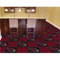 Arizona Cardinals Carpet Tiles Flooring - I think I'll redo the office flooring in this!