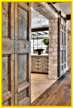 Barn Door Decor Romantic Indoor Barn Wedding Decor Ideas With Lights . 35 Rustic Old Door Wedding Decor Ideas For Outdoor Country . Decorating: Nice Bypass Sliding Barn Door Hardware For . Home and Family Barn House, House Design, House, House Styles, New Homes, House Interior, Doors, Barn Door, Rustic House