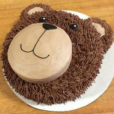 16 Best Animal Birthday Cake Designs for Kids Party try these 16 easy and beautiful animal birthday cake that are very simple to make even a beginner baker cam bake it too. Teddy Bear Birthday Cake, Animal Birthday Cakes, Teddy Bear Cakes, First Birthday Cakes, Teddy Bears, Teddy Bear Party, Cake Designs For Kids, Simple Cake Designs, Cow Cakes