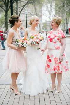 Maid of honor, bride and mother: http://www.stylemepretty.com/pennsylvania-weddings/philadelphia/2014/10/01/philadelphia-wedding-full-of-colorful-florals/ | Photography: Emily Wren - http://emilywren.com/