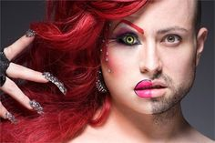 photography beauty art drag portrait Identity drag queens Leland Bobbé Half-Drag Alter-ego
