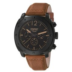 Esprit ES106391003 baker chrono brown herenhorloge