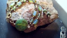 Bracelet earring set by halfmoonunder on Etsy