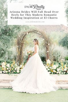 Where are our Arizona brides-to-be? Over on SMP were sharing some major romantic desert wedding inspo including epic views and a gorgeous ceremony arch! You dont want to miss the pretty details! Tent Wedding, Wedding Dresses, Garden Wedding, Romantic Wedding Inspiration, Wedding Ideas, Vintage Wedding Theme, Head Over Heels, Ceremony Arch, Arizona Wedding