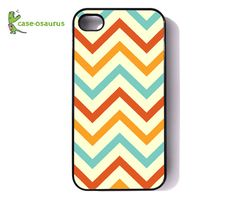 iPhone 4 Case  Chevron Tiff's Flaming Tangerine by caseosaurus, $16.99