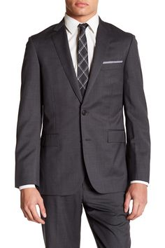 d3758c00ec9d Notch Lapel Two Button Grey Jacket by Brooks Brothers on @nordstrom_rack  Men's Suits, Gray