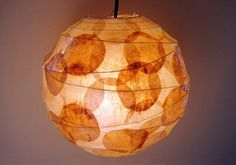 used coffee filters on paper lantern