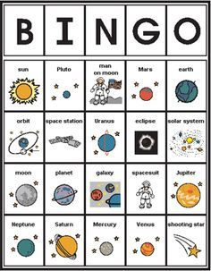 space bingo – Science, Physics and Astronomy News Space Activities, Science Activities, Science Projects, Space Exploration Games, Space Games, Space Solar System, Solar System Projects, Solar System Games, Solar System Activities