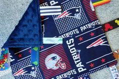New England Patriots Sensory Lovey/Blanket, New England Patriots Baby, I Spy Lovey/Blanket, NFL Lovey, Baby Shower Gift, Sensory Lovey, Pats by BrakesForFabric on Etsy https://www.etsy.com/listing/254609590/new-england-patriots-sensory