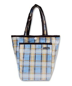 Take a look at this Blue & Yellow Plaid Rockstar Mini Diaper Bag by Trend Lab on #zulily today!$9.99, regular 18.00.  Sale ends in 2 days, 17 hours; or, in other words on Monday, June  9th in the afternoon. So if you're interested, get on it! :)