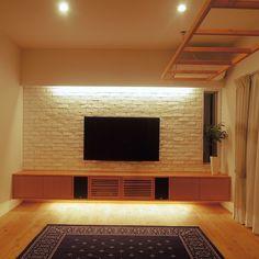 Neybers - An Interior Design Playground Tv Set Design, Tv Wall Design, Door Design, House Design, Tv Cabinet Design, Tv Unit Furniture, Living Room Tv Unit Designs, Indian Homes, Secret Rooms