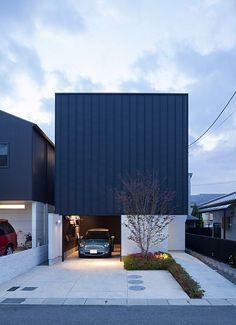 Residential Architecture, Contemporary Architecture, Interior Architecture, Facade Design, Exterior Design, Compact House, Box Houses, Facade House, Black House