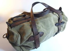 Vintage Filson Canvas Leather Work Hunting Duffle Bag