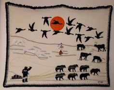inuit wall hanging - mike beauregard