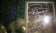 Claire and Tylers Bubble Bar Sign | designed by #papellerie | photos by cbaileyphotography.com