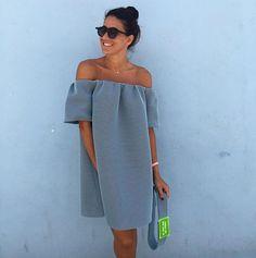 Nothing to wear❓❔ #beatrizpenalver New Blue dress/ Zoom in / Details . O v e r s i z e #beatrizpenalver