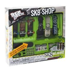 Tech Deck Skate Shop Bonus Pack (Styles Vary) by Spin Master. $12.55. New Board & Truck Shapes. Includes: 3 Complete Boards, 3 Extra Decks, 12 Extra Wheels, 1 Tool, 3 Styles of Grip Tape. Multiple New Grip Tape Options. Learn New Tricks & Tips from TechDeck.com. Multiple Ways to Customize Your Skateboards. From the Manufacturer                Build the perfect skate set up with the Sk8 Shop Bonus Pack. Pick your deck, trucks, wheels and stickers and throw together your dream fi...