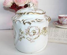 Gorgeous Antique Limoges Biscuit Jar