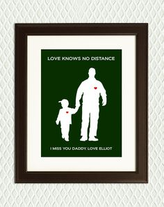Beautiful Personalized Fathers Day Print for Deployment Military
