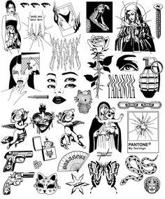 Dope Tattoos, Anime Tattoos, Pretty Tattoos, Mini Tattoos, Body Art Tattoos, Sleeve Tattoos, Tatoos, Kritzelei Tattoo, Grunge Tattoo