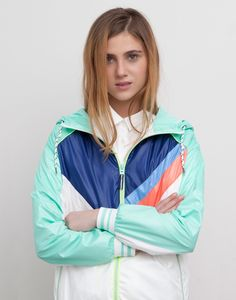 Pull&bear Stripe-Print Hooded Jacket in Multicolor (ICE) | Lyst