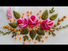 new brazilian embroidery patterns Brazilian Embroidery Stitches, French Knot Embroidery, Embroidery Stitches Tutorial, Hand Embroidery Flowers, Ribbon Embroidery, Embroidery Patterns, Embroidery Neck Designs, French Knots, Sewing Hacks