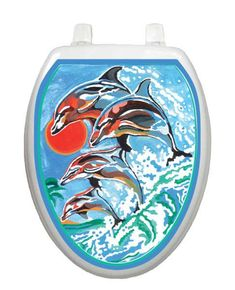 Dolphins Swimming Toilet Tattoos