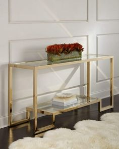 Shop Cole Console Table from Interlude Home at Horchow, where you'll find new lower shipping on hundreds of home furnishings and gifts. Shelf Furniture, Rustic Furniture, Furniture Makeover, Living Room Furniture, Handmade Furniture, Furniture Design, Brass Console Table, Living Room Cabinets, Aluminum Table