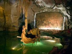 The grotto of Bavarian King Ludwig at his Linderhof castle. Loved this place...