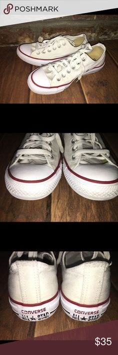 White Converse Chuck Taylor Low Tops EUC Converse Shoes Sneakers