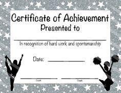 cheerleading award certificate  free cheerleading printables | Best Cheerleader Printable Awards ...