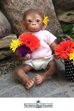 Spring into the season with Coco, an adorable So Truly Real baby monkey doll.