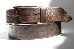 Gift for men Hand tooled leather belts men's leather by ISHAOR Faux Leather Belts, Leather Gifts, Black Leather Belt, Leather Tooling, Tooled Leather, Leather Men, Leather Corset, Distressed Leather, Leather Projects