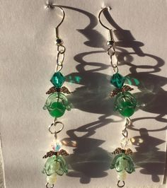HC Dark and Light Green Crystal Pearls and by SouthernWomenCrafts
