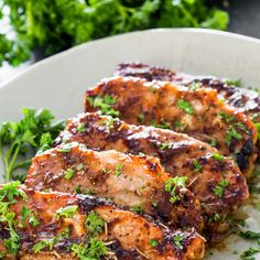Mustard Balsamic Pork Chops with Rosemary Recipe Main Dishes with pork chops, olive oil, whole grain mustard, balsamic vinegar, fresh rosemary, salt, pepper