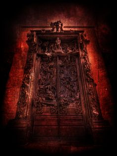 """Las puertas del infierno, Auguste Rodin, 1880-1900. Segunda mitad S. XIX. No cabe duda de que Rodin fue un pionero en lo que a impresionismo se refiere, sus obras destacaron entre las del momento por sus formas, su crudeza, su originalidad, nadie antes había hecho algo igual, es por esto por lo que he escogido a Rodin y sus """"Puertas del infierno""""."""
