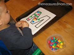 fun handwriting practice for preschoolers 2 the measured mom Fun handwriting practice for preschoolers! (the letter M) After School, Back To School, School Stuff, Preschool Letter M, Pencil Grip, Handwriting Practice, Alphabet Activities, Special Education, Teaching
