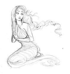 #RotG #Retreat #Rhea | Sketch of Rhea. She basically saved everyone by giving her awful husband Cronus a stone in diapers instead of her last son, Zeus. He had already eaten Hestia, Hades, Demeter, Poseidon and Hera (in that order) because he was sure one of his sons/daughters would be much more powerful than him. He was right, of course, but eating them was taking the prediction a little bit too far, right? But then Rhea was so fed up with this stuff he gave him a stone like it was little…