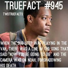 """The Walking Dead season 5. Noah's death. I heard that and thought, """"Oh this is gonna suck"""". RIP Noah"""