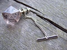 D20 dice tie pin gamers wedding mens accessory by MageStudio, $30.00
