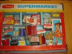 """MY MERRY """"Supermarket"""" from 1959 - cool for vintage display"""